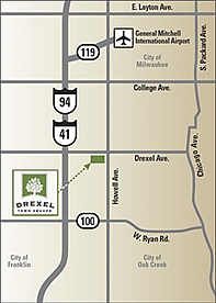 Drexel Town Square location map